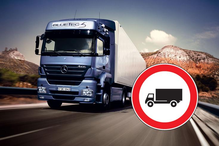 Zakazy ruchu ciężarówek we Włoszech w 2021 r.