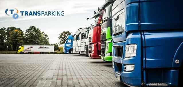 Kaart van de veiligste vrachtwagen parkeerplaatsen in Spanje