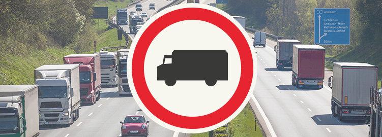 Запреты на движение грузовиков в Германии в 2021 году. Текущие данные от BAG